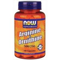 L-Arginine&Ornithine, 100 Caps w/ORNITHINE