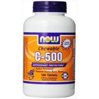 Vitamin C-500 Cherry Chewable, 100 Tabs